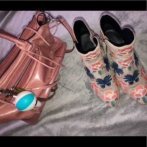🌸 Rebecca Minkoff Suede Embroidered Booties